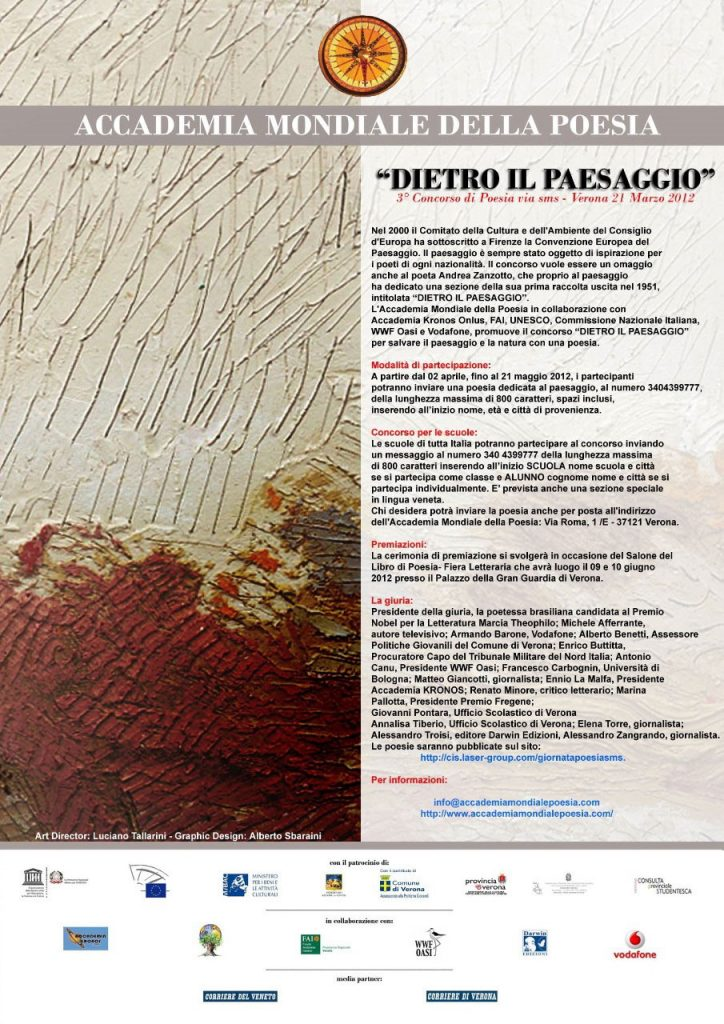 Concorso di poesia via sms Dietro il Paesaggio
