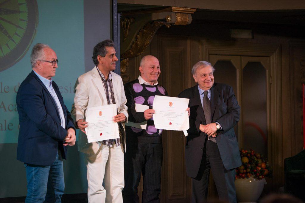 Giorgio Pasqua, Khalid Albudoor (Emirati Arabi), Majo Danilovic (Serbia), Nadir Aziza (Cancelliere Accademia Mondiale della Poesia)