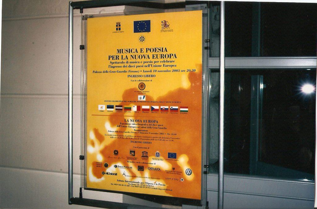 Manifesto Musica e Poesia per la Nuova Europa