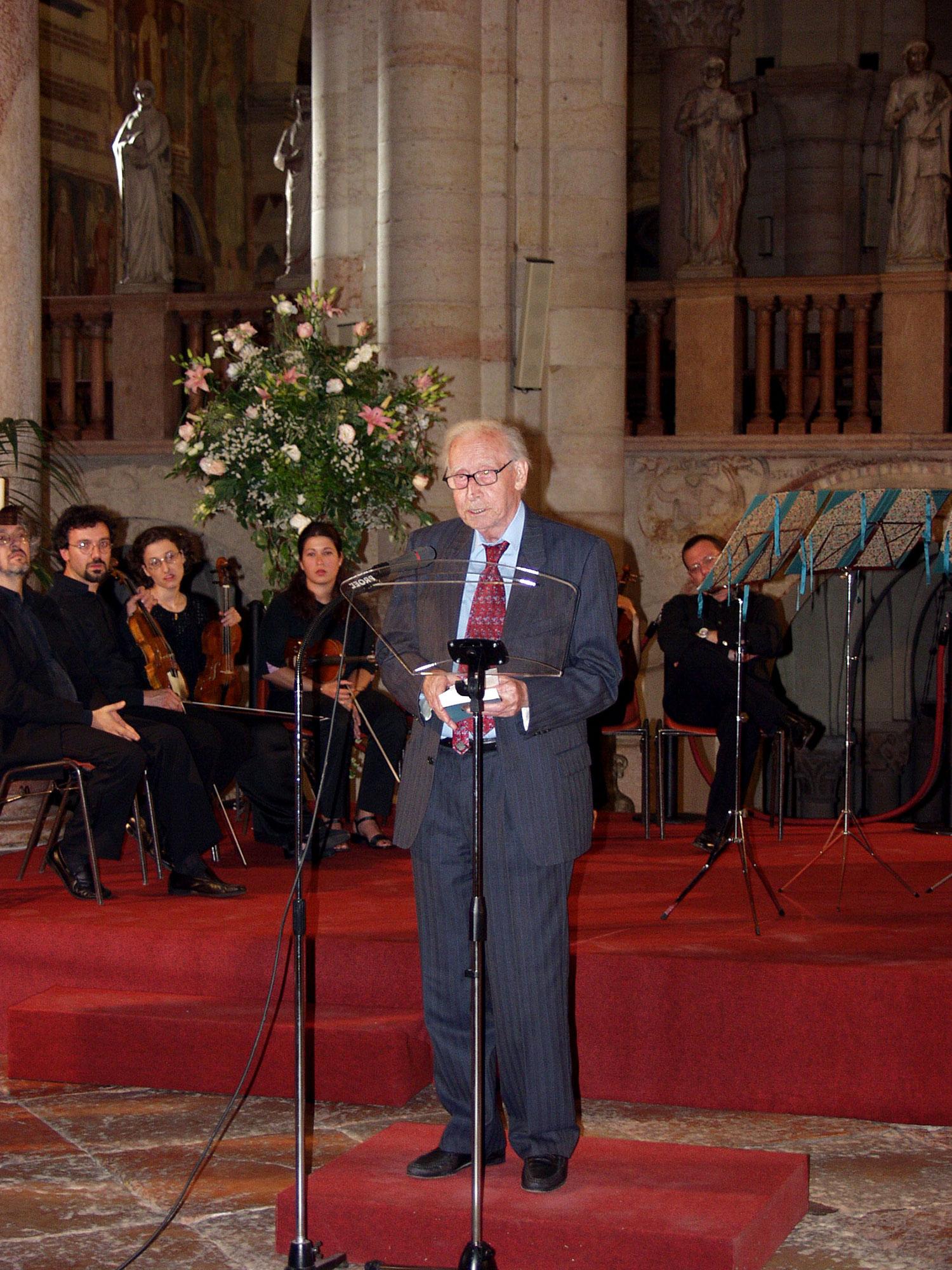 Mario Luzi, socio fondatore Accademia Mondiale della Poesia