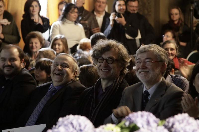 Pubblico con Nadir Aziza, Wim Wenders e Sergio Cofferati