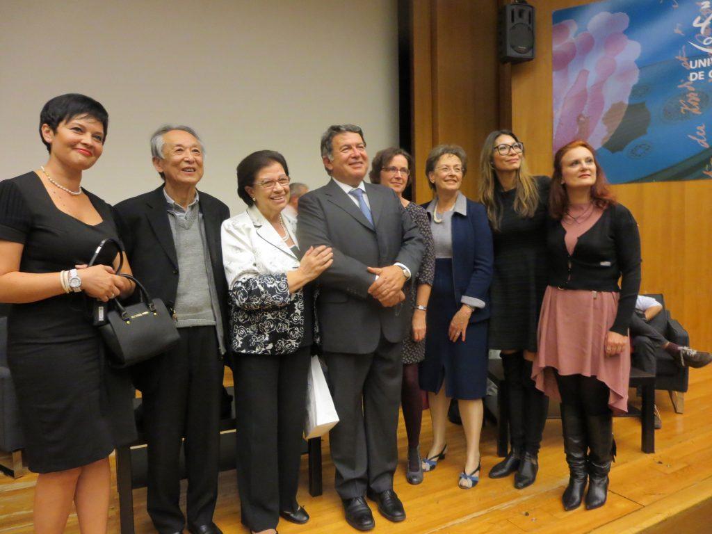 Susanna Wong e i poeti Deborah D'Agostino, Gao Xingjian, Gwyneth Lewis e Susanne Stephan