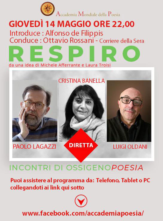RESPIRO - Incontri di Ossigeno Poesia - PAOLO LAGAZZI, CRISTINA BANELLA, LUIGI OLDANI